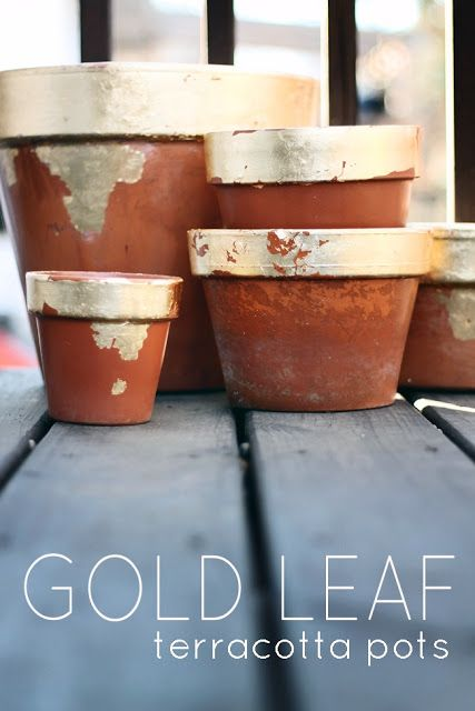 Gold Lead terracotta pots